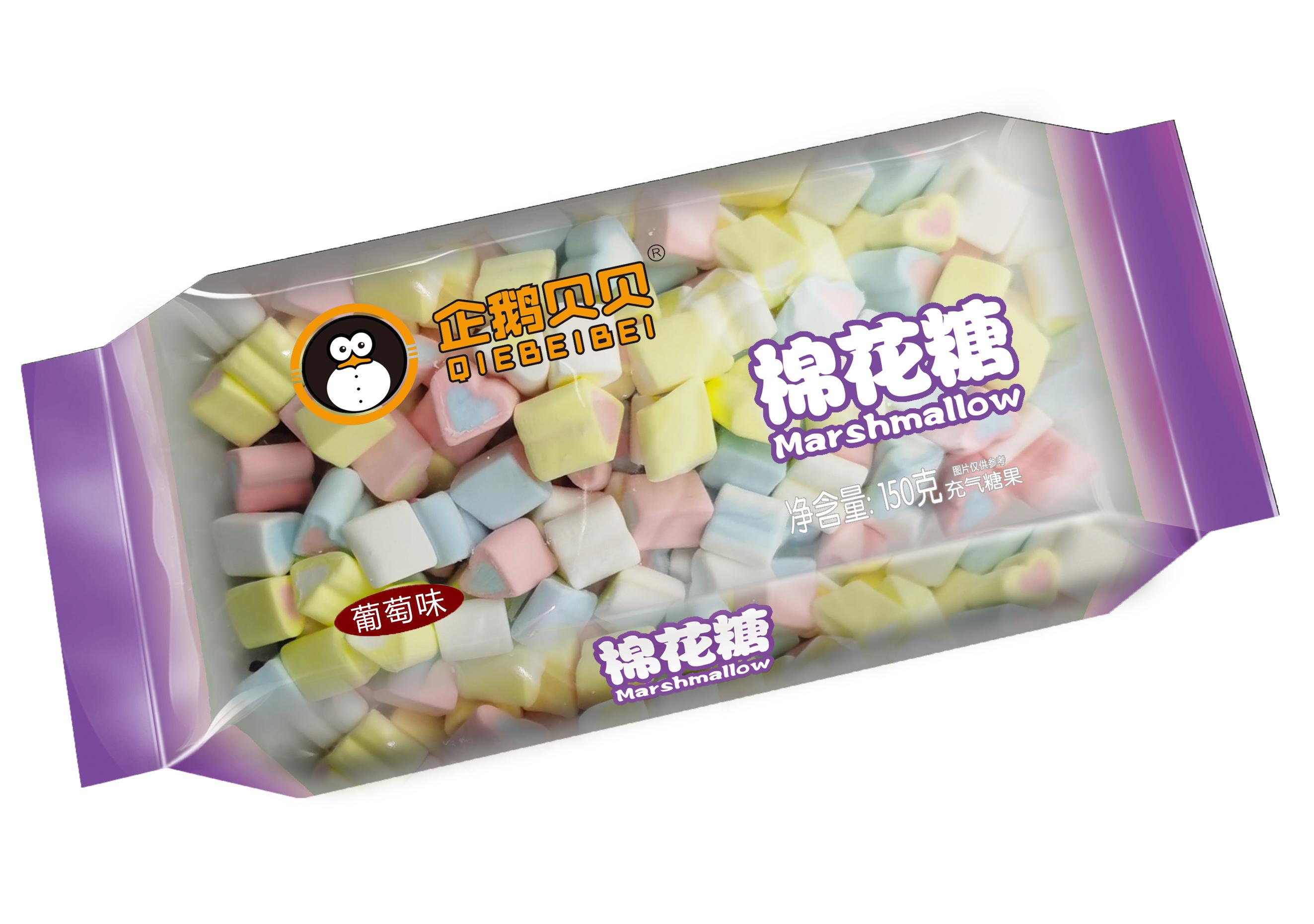 企鹅贝贝150克枕式棉花糖葡萄味