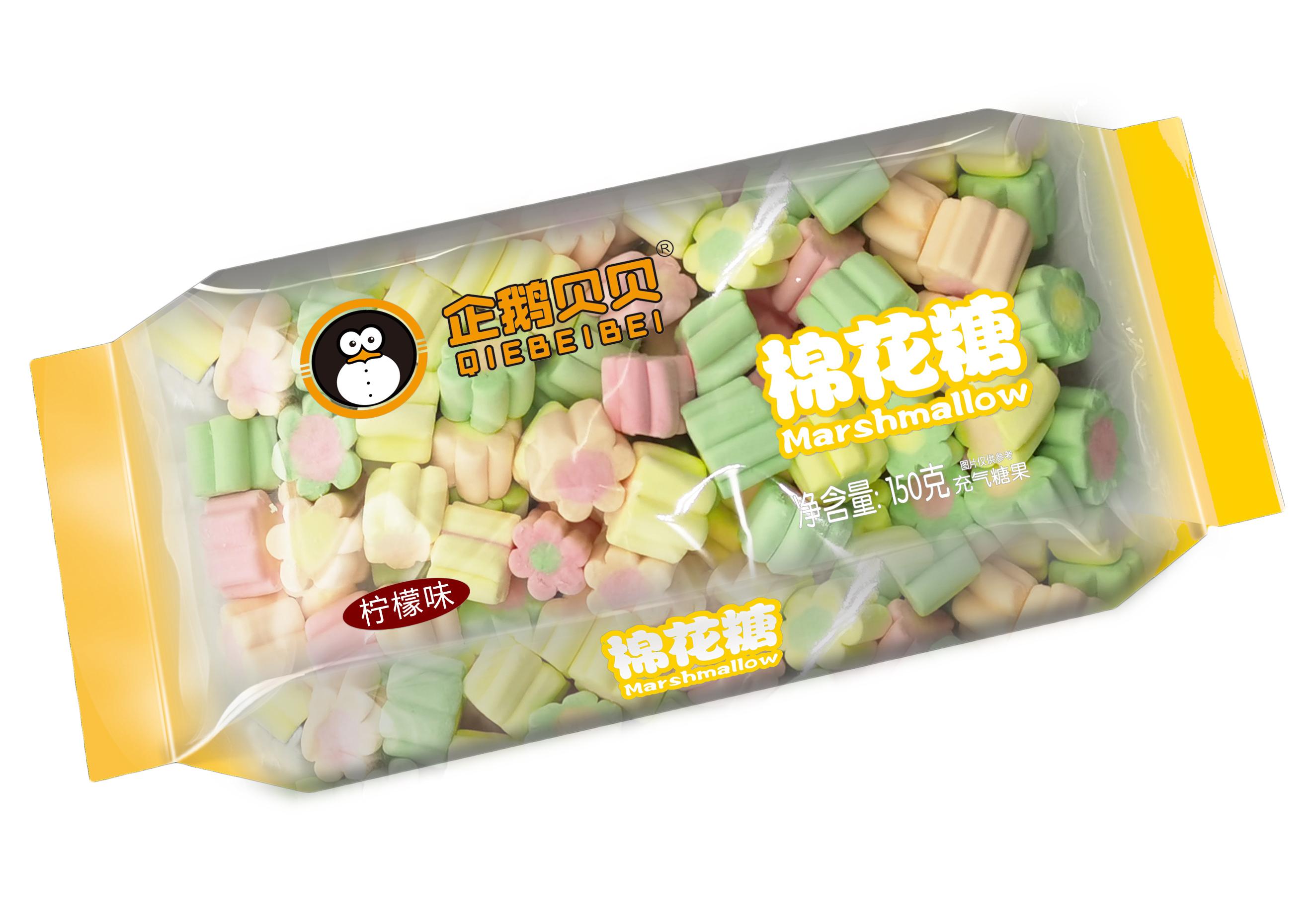 企鹅贝贝150克枕式棉花糖柠檬味