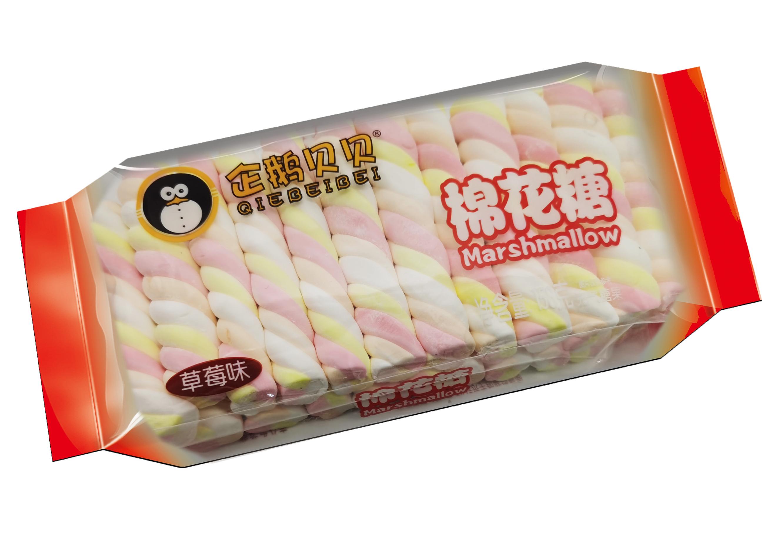 企鹅贝贝150克枕式棉花糖草莓味