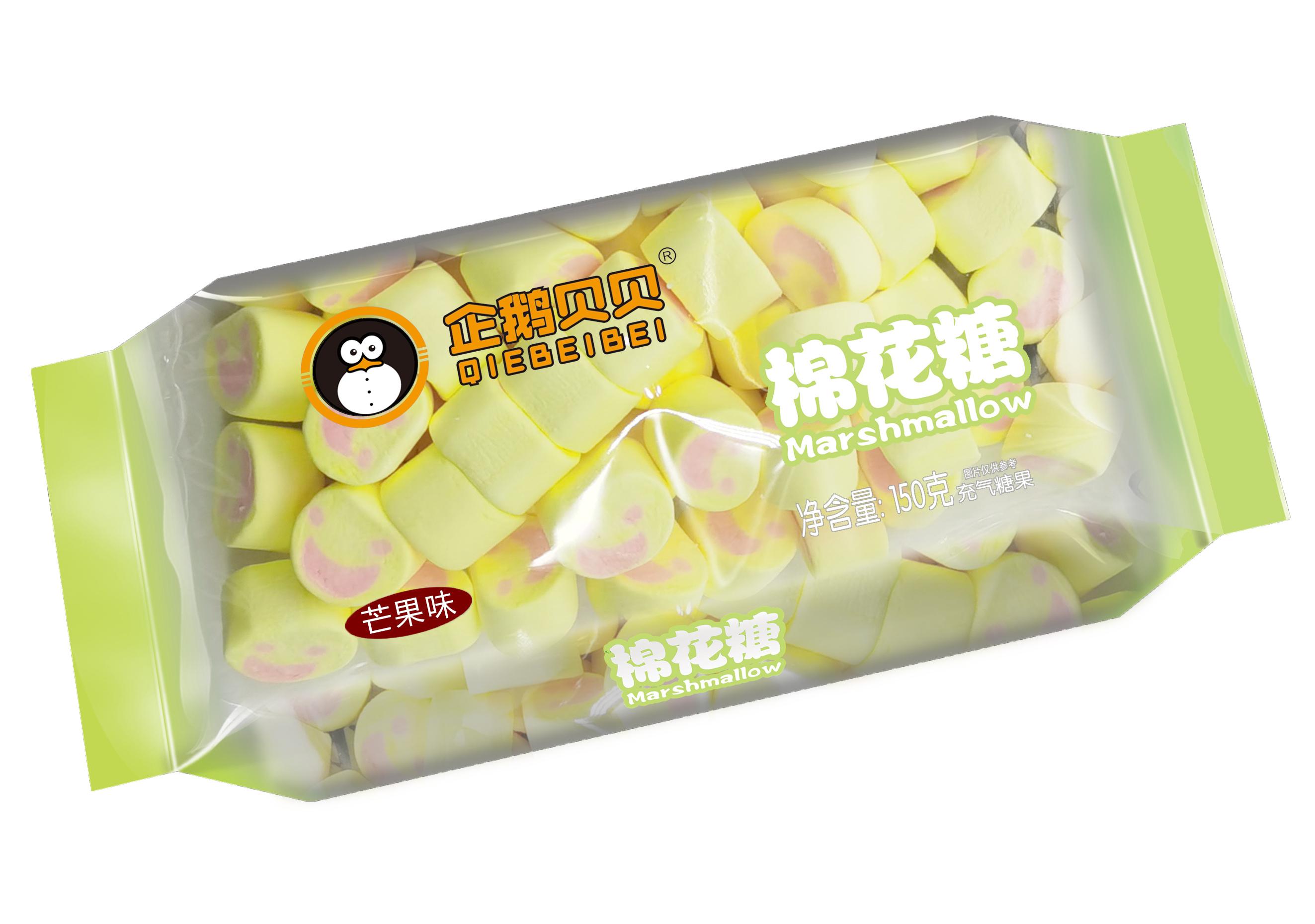 企鹅贝贝150克枕式棉花糖芒果味